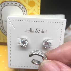 NIB Stella & Dot Studs &Ear Cuff 2 pairs earrings